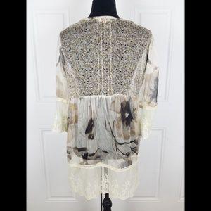 Sundance Tops - Sundance Catalog Top Silk Large Lace Embroidered